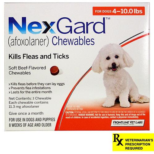 Rx NexGard, Dog 4-10.0lb  3month