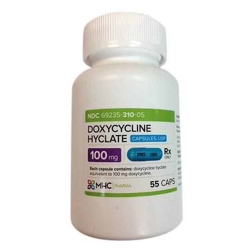 Rx Doxycycline Caps, 100  mg, 55 ct
