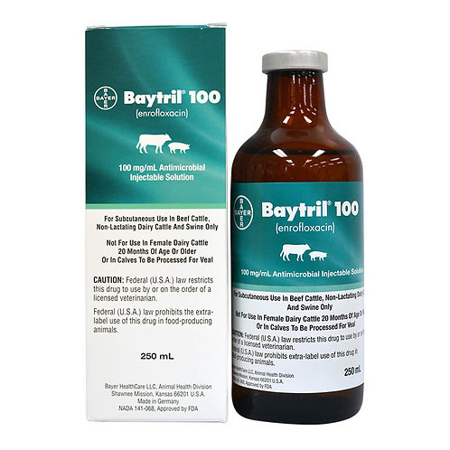 Baytril 100 Injectable Solution Rx