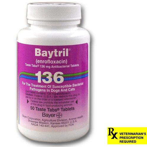 Baytril Rx, Taste Tabs, 136 mg x 50 ct