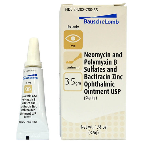 Triple Ophthalmic Ointment Rx, 3.5 grams