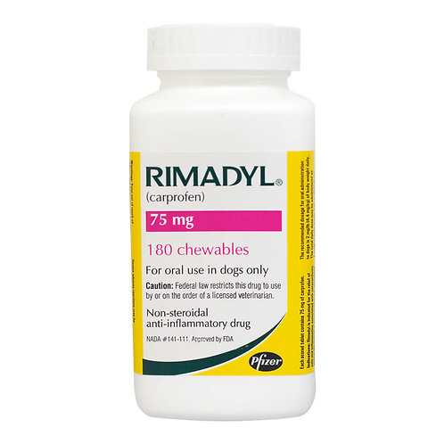Rimadyl Rx, Chewables, 75 mg x 180 ct