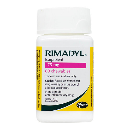Rimadyl Rx, Chewables, 75 mg x 60 ct