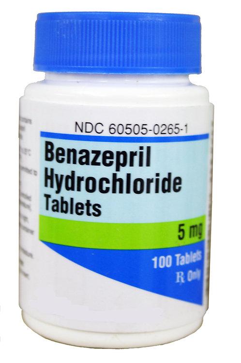Benazepril Rx, 5 mg x 100 ct