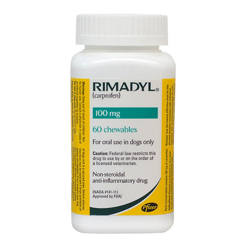 Rimadyl Rx, Chewables, 100 mg x 60 ct