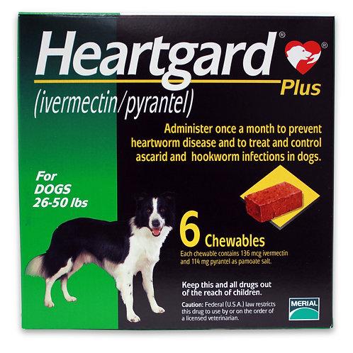 Heartgard Plus Rx, 26-50 lbs, 6 Month (Green)