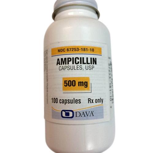 Rx Ampicillin Caps, 500 mg, 100 ct