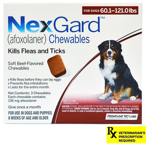 Rx NexGard, Dog 60-121.0lb, 3 month