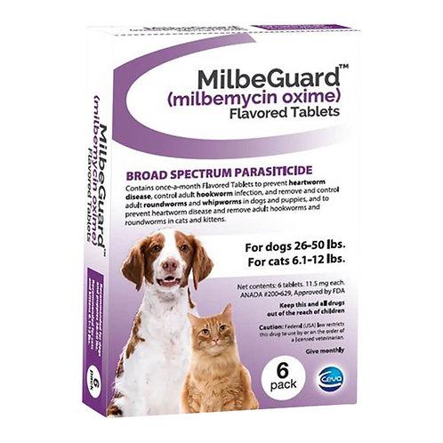 Rx, Milbeguard Dog 26-50lb, Cat 6.1-12lb, 6pk, Purple