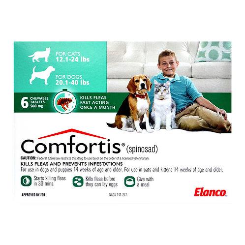 Comfortis Rx, 20.1-40 lb Dogs/12.1-24 lb Cats, 6 Count, Green