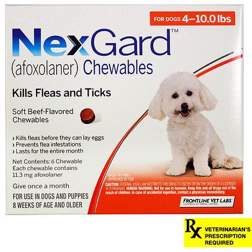 Rx NexGard, Dog 4-10lb,  6 month