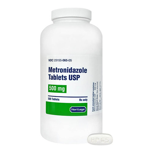 Rx Metronidazole, 500 mg x 500 tablets