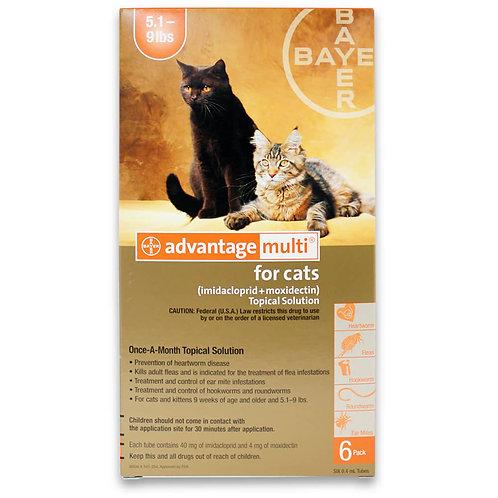 Advantage Multi Rx for Cats, 5.1-9 lbs, 6 Month (Orange)