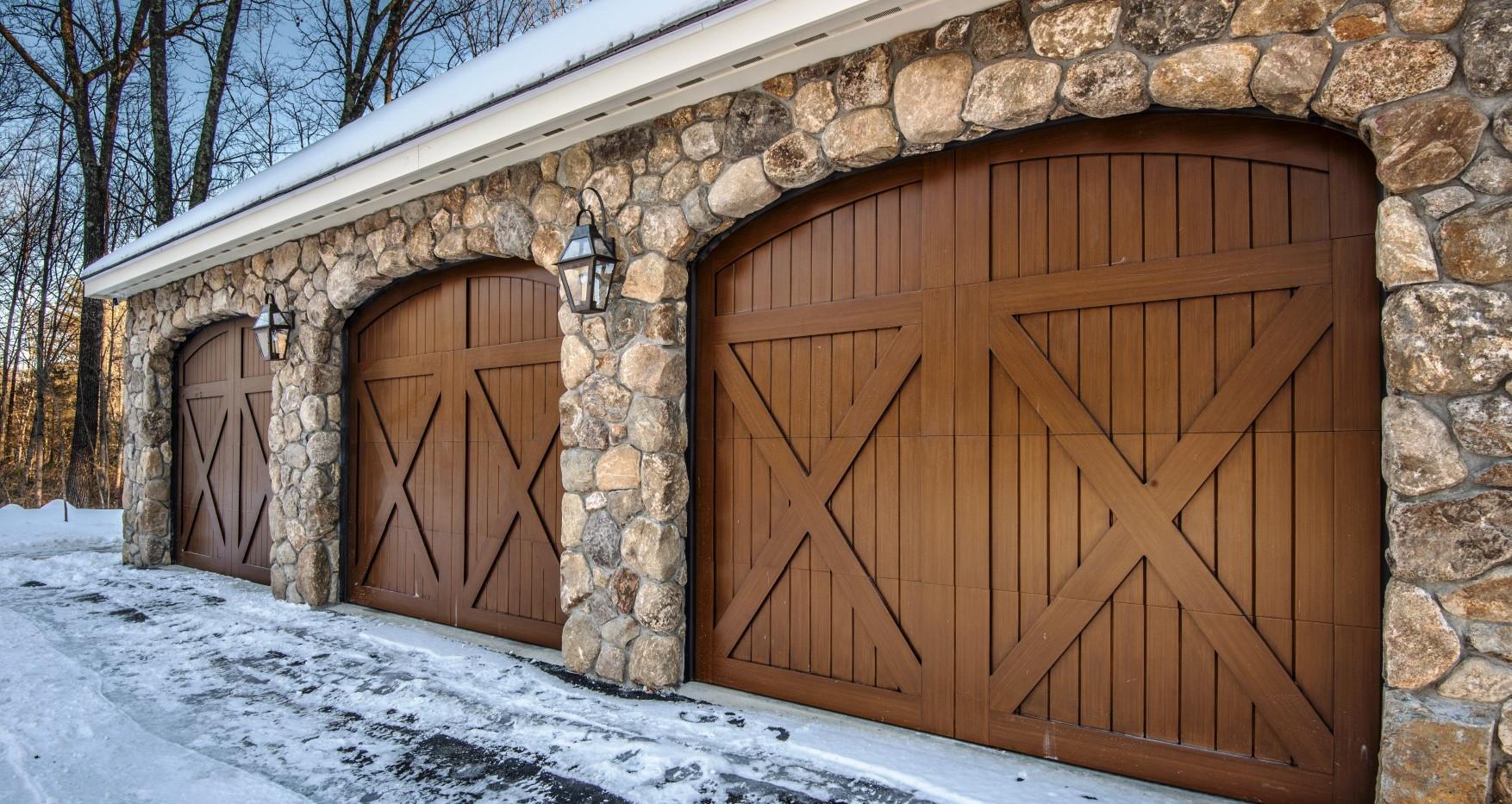 Garage Exterior Stonework