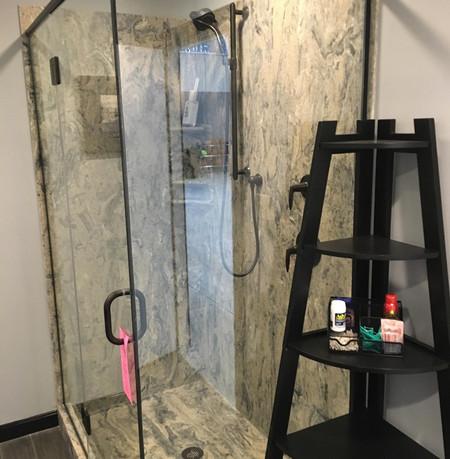 Caligula-334M  Shower Kit  Double Threshold Custom Style Shower Base