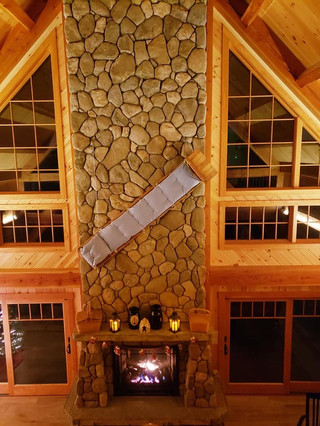 interior fire place stone work