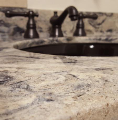 Caligula-334G  Vanity Top Black Under-mount Bowl
