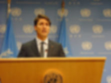 Canadian Prime Minister Justin Trudeau at the United Nations