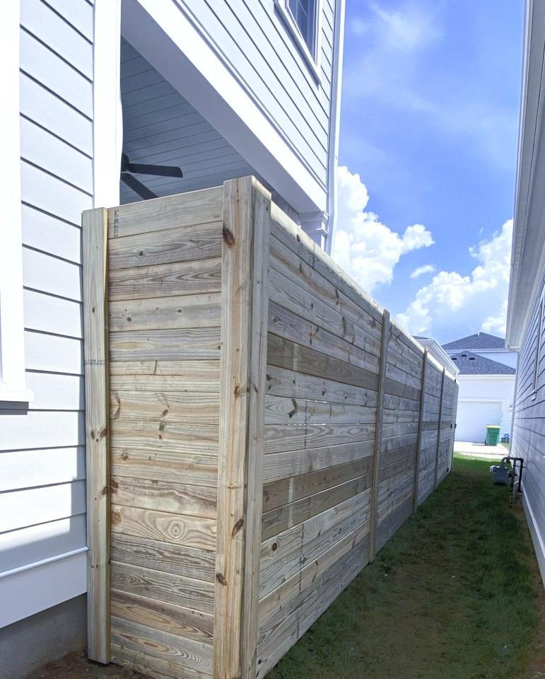 "72""h Horizontal Wood Privacy"