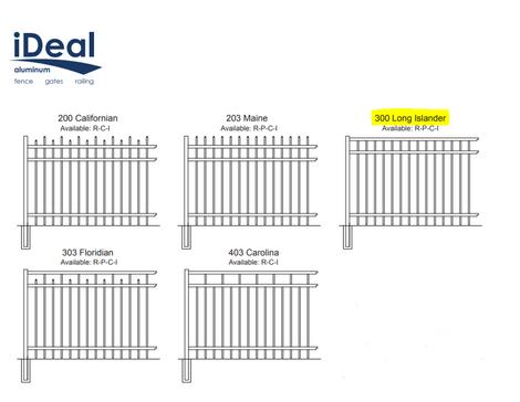 Ideal Aluminum Fence Styles
