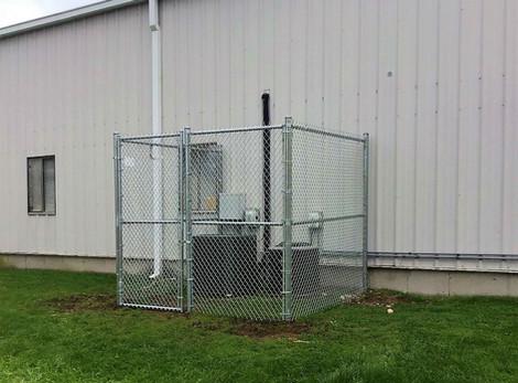 Galvanized Chainlink AC Unit Enclosure