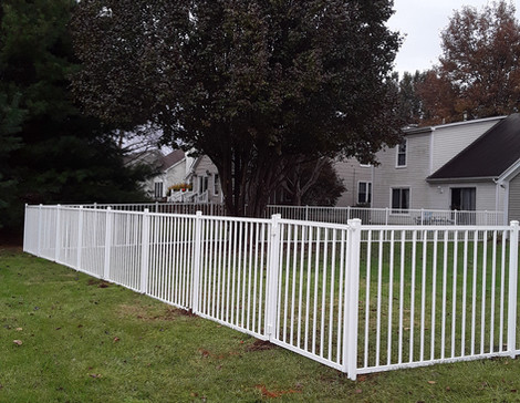 "48""h White Commercial Aluminum (Style - Alamo, 2-Rail)"