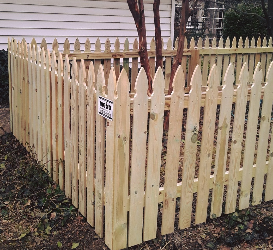 """48""""h """"French Gothic"""" Wood Picket - 2"""" Spaced"""
