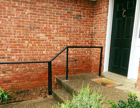 "1-5/8"" Black Pipe Handrail"