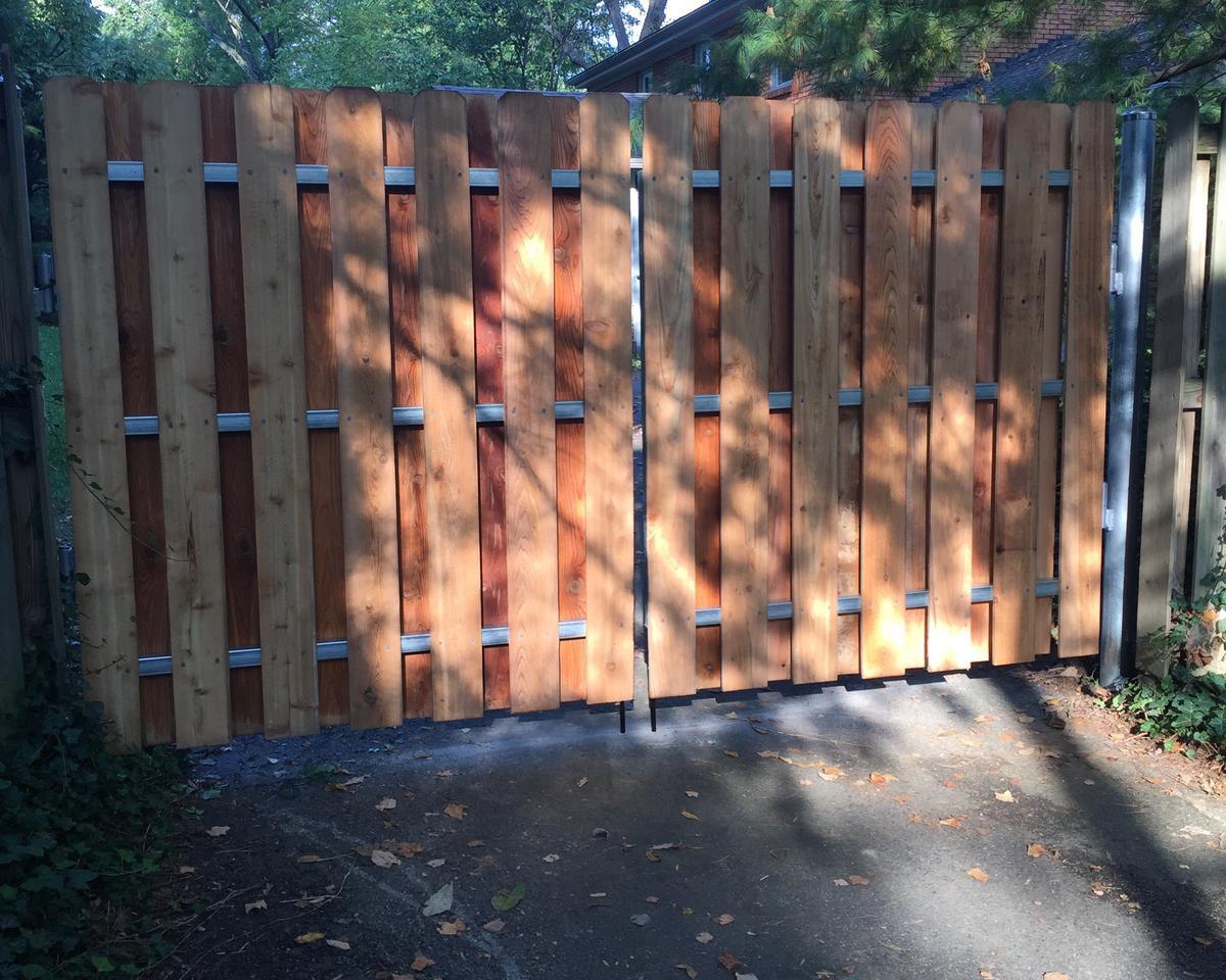 Cedar Shadow-Box Fence