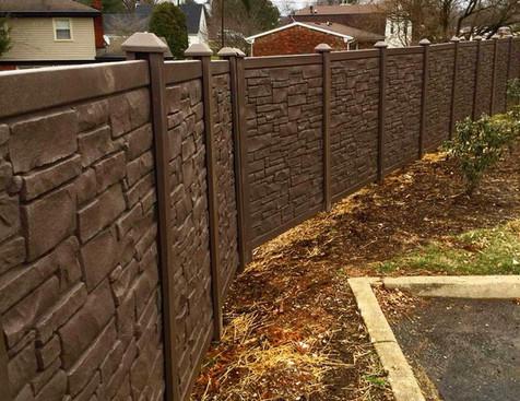"""72""""h Allegheny (Dark Brown Granite)"""