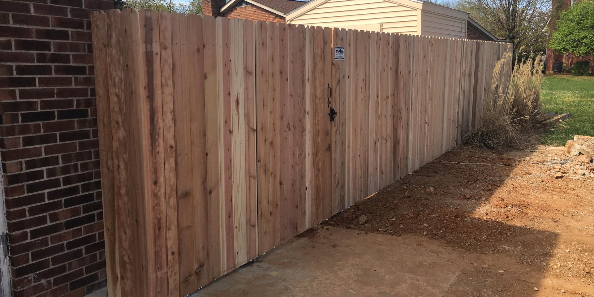 "72""h Standard Cedar Privacy (Dog-Eared)"