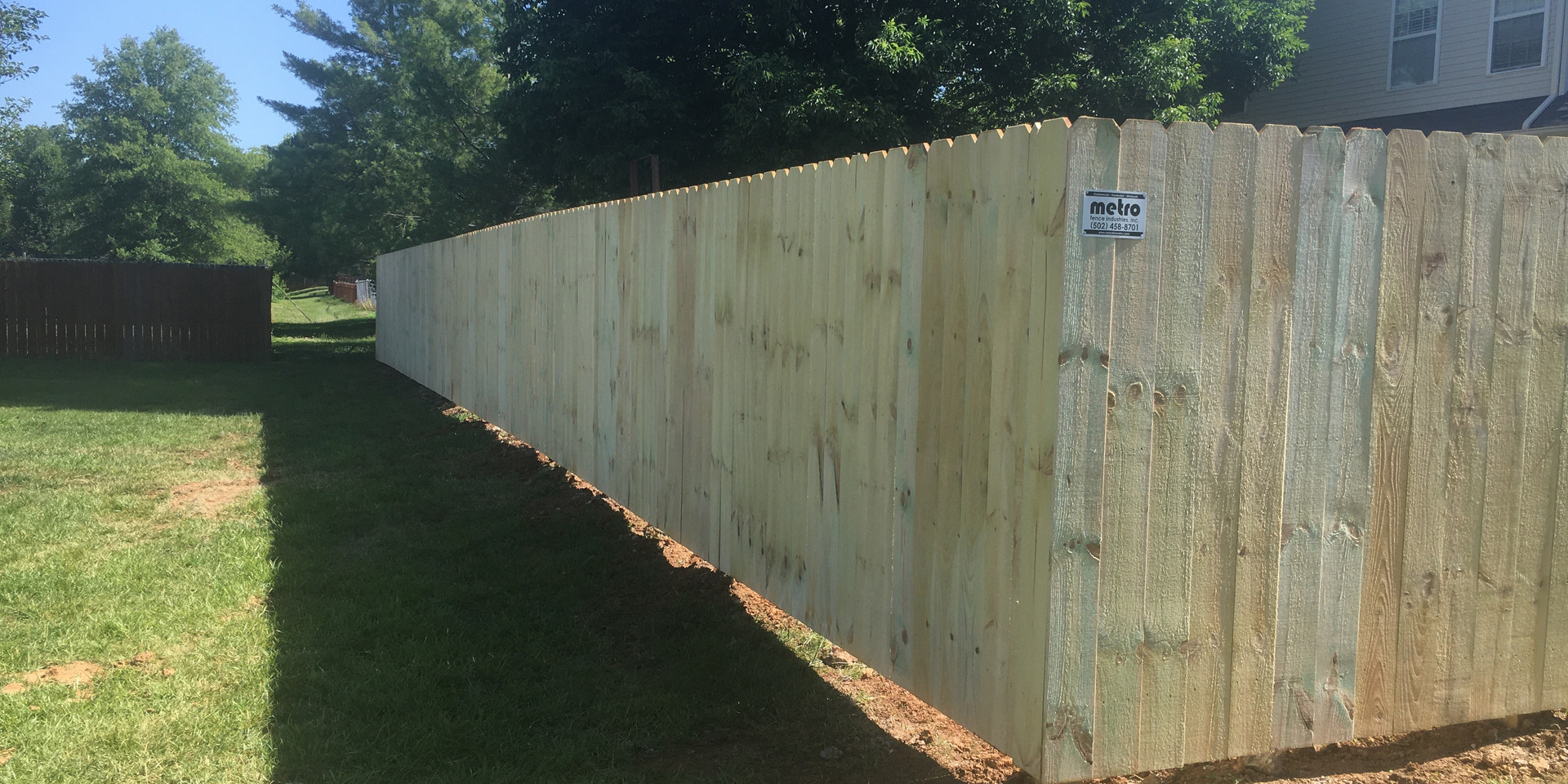 "Standard 72""h TYP Privacy Fence"