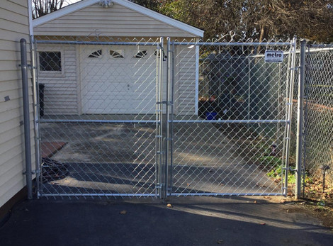 Galvanized Chainlink Gate