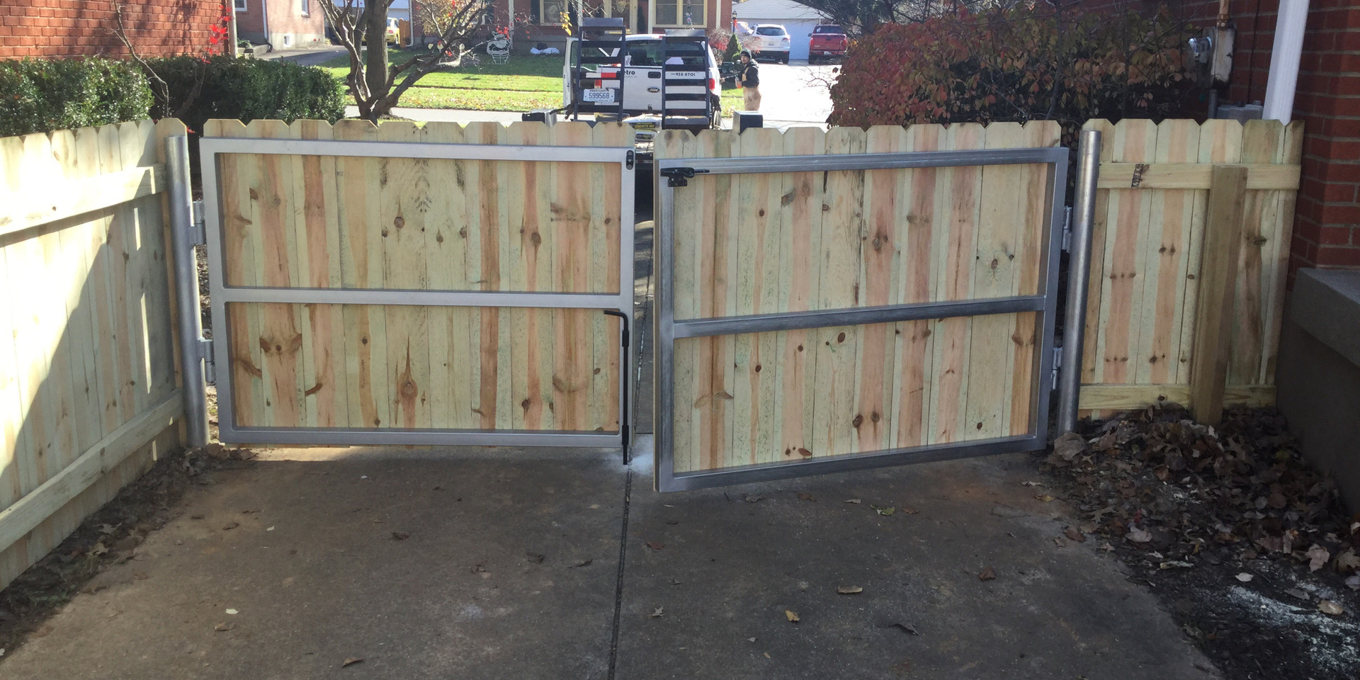 Gate with Steel Frames