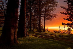 Sunset over Puppy's Point, Norfolk Island