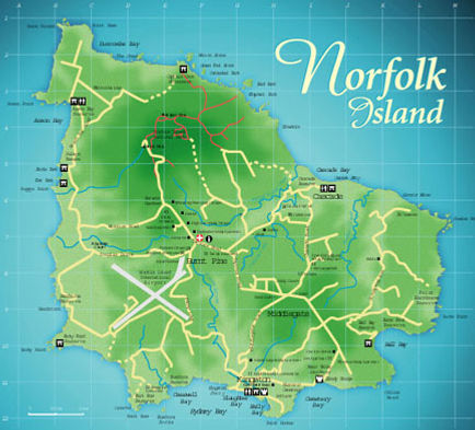 Tourist Map of Norfolk Island