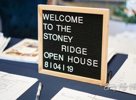 Stoney Ridge Villa's Grand Opening Event 8/4/2019
