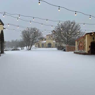 Snow at the Villa