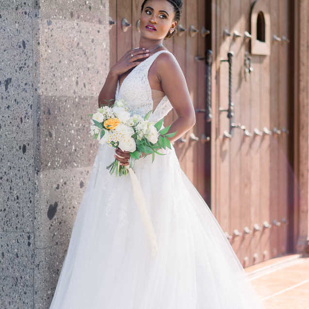 Bride by Main wood dooror
