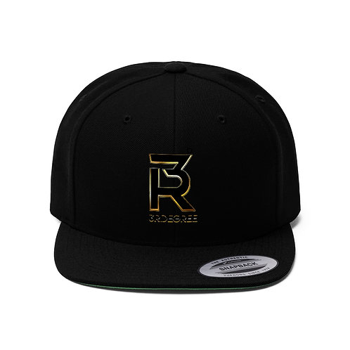 3R Design Unisex Flat Bill Hat