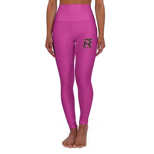 High Pink 3R Waisted Yoga Leggings