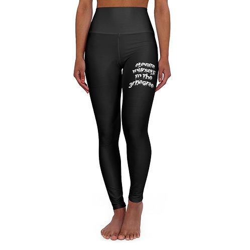 Black Elevatd High Waisted Yoga Leggings