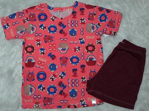 Pijama Sorvete (Tamanho 06)
