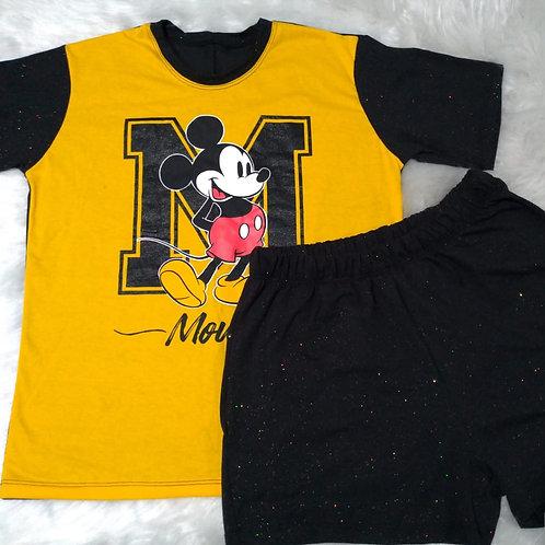 Pijama Mickey Amarelo - M