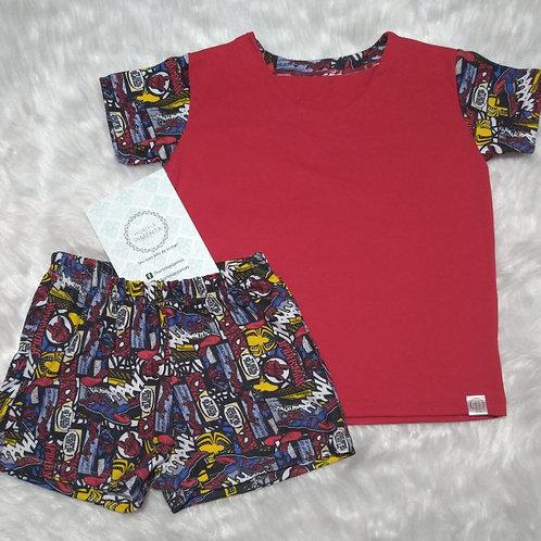 Pijama Quadrinhos/Vermelho (Tamanho 06)