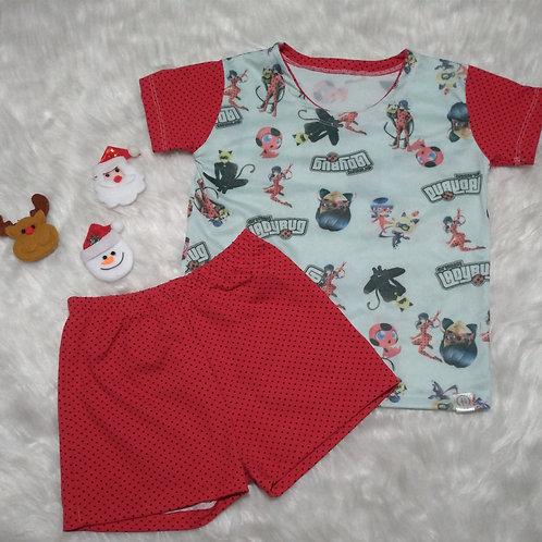 Pijama Ladybug (Tamanho 06)