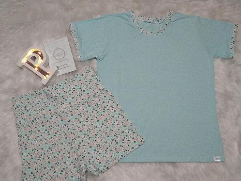 Pijama Azul/Florido - G