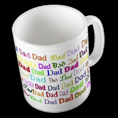 Repeated Name Mugs : Dad