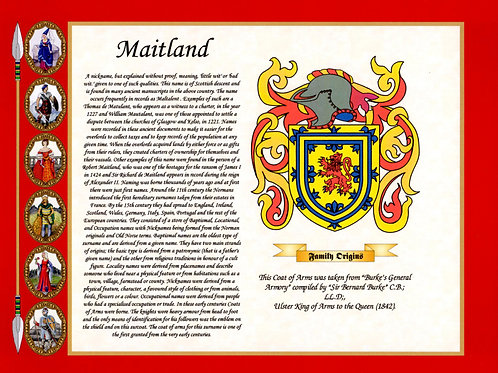 Surname History with Coat of Arms