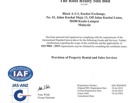 THe Roof Realty - ISO 9001 Certification